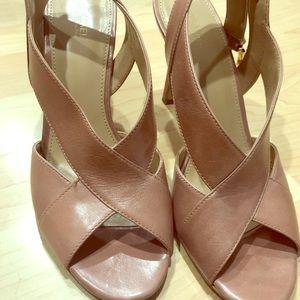 Pink Michael Kors Becky slingback sandal heels